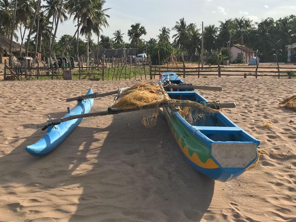 Sri Lanka Nilaveli, pirogue de pêche